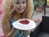 Messy Angel - Jasmine sits on a cake